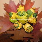 Bukiet róż – origami z liści