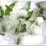 Kostki lodu z miętą i cytryną – miętowe orzeźwienie