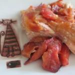 Łosoś z brzoskwinią