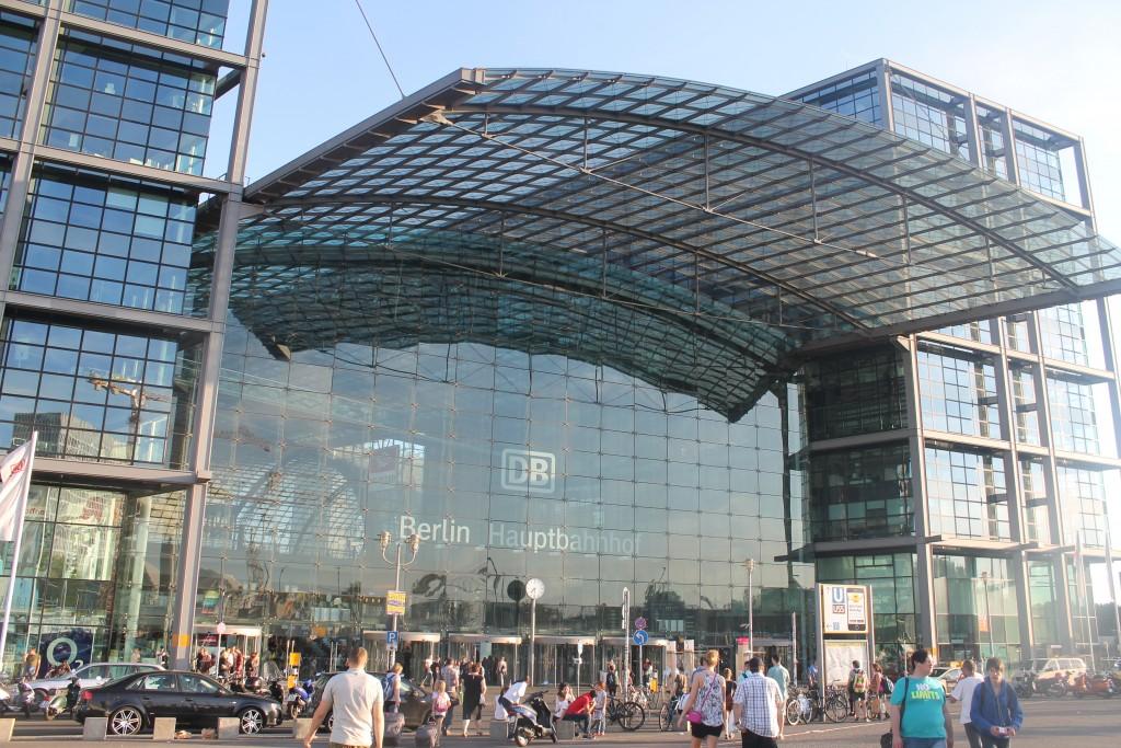 DB Berlin Hauptbahnhof - nasza droga do