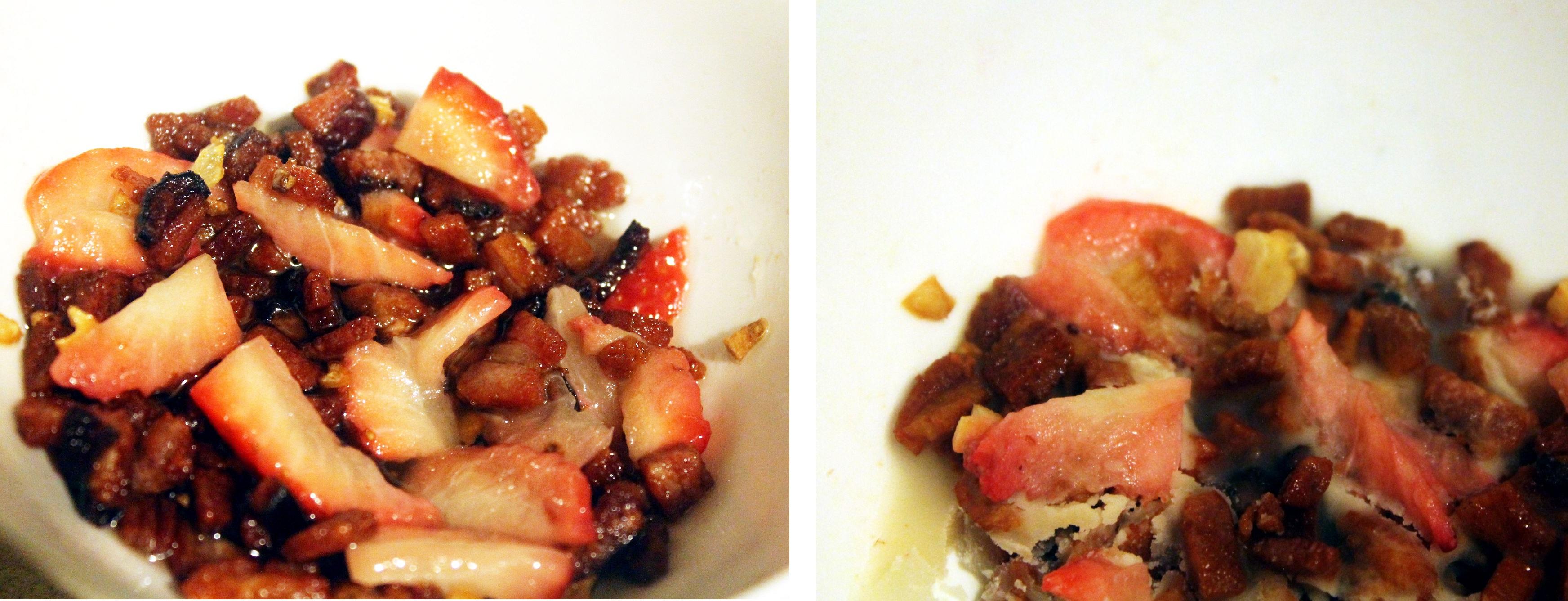 tłusty czwartek - nasza droga do - boczek z truskawkami