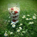 Deser na zimno z owocami z własnego ogródka