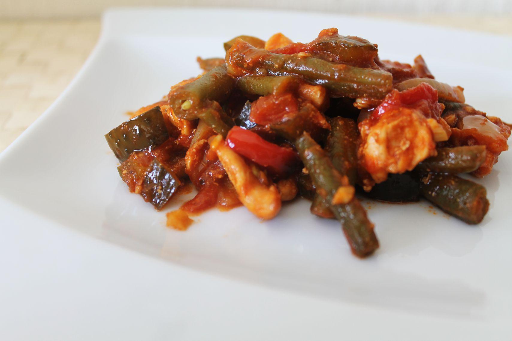 kurczak z fasolką szparagową i warzywami - nasza droga do