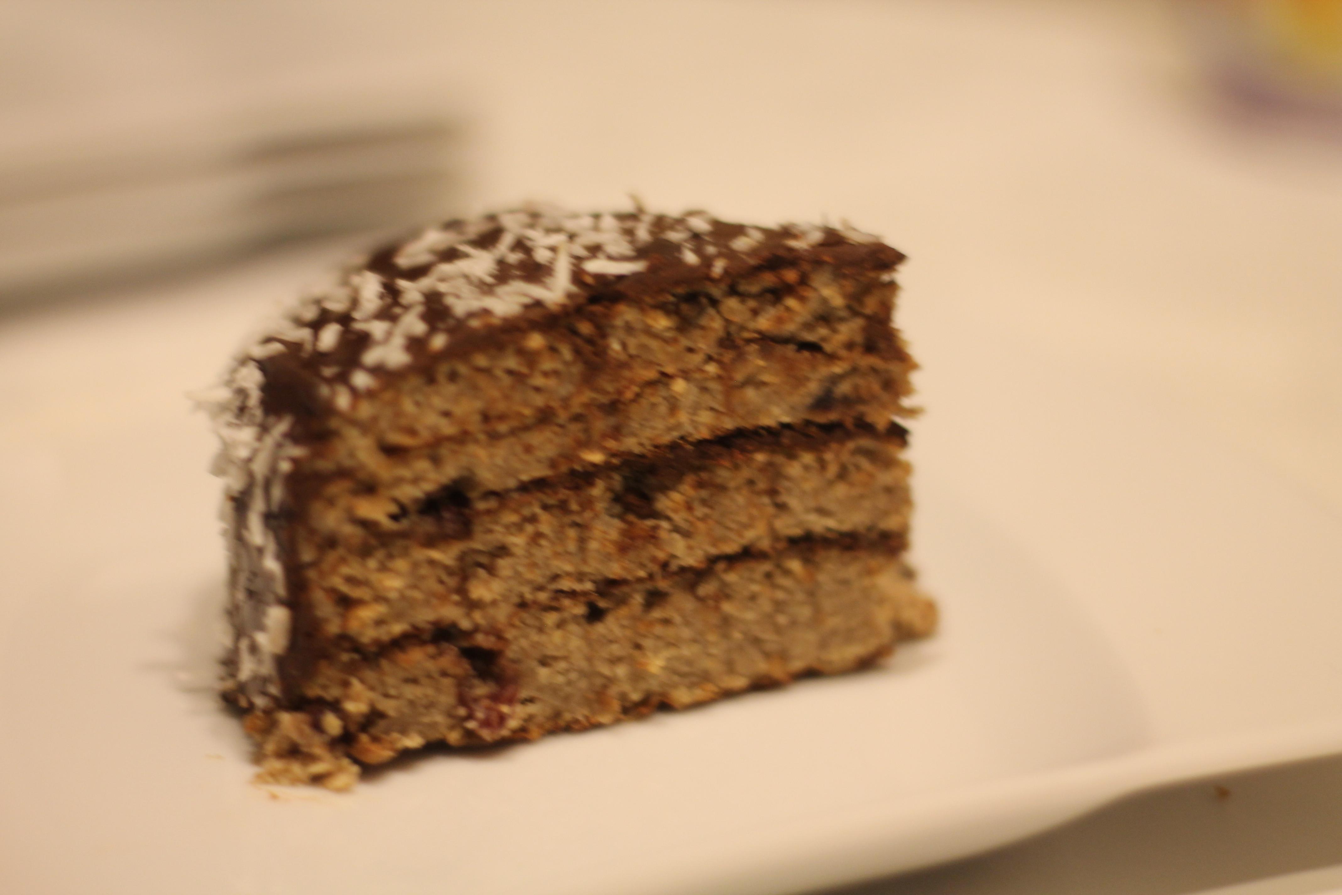 tort sojowy z patelni