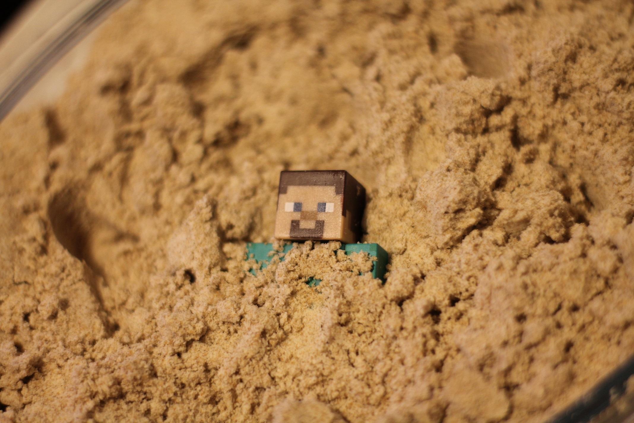 Piasek kinetyczny z mąki