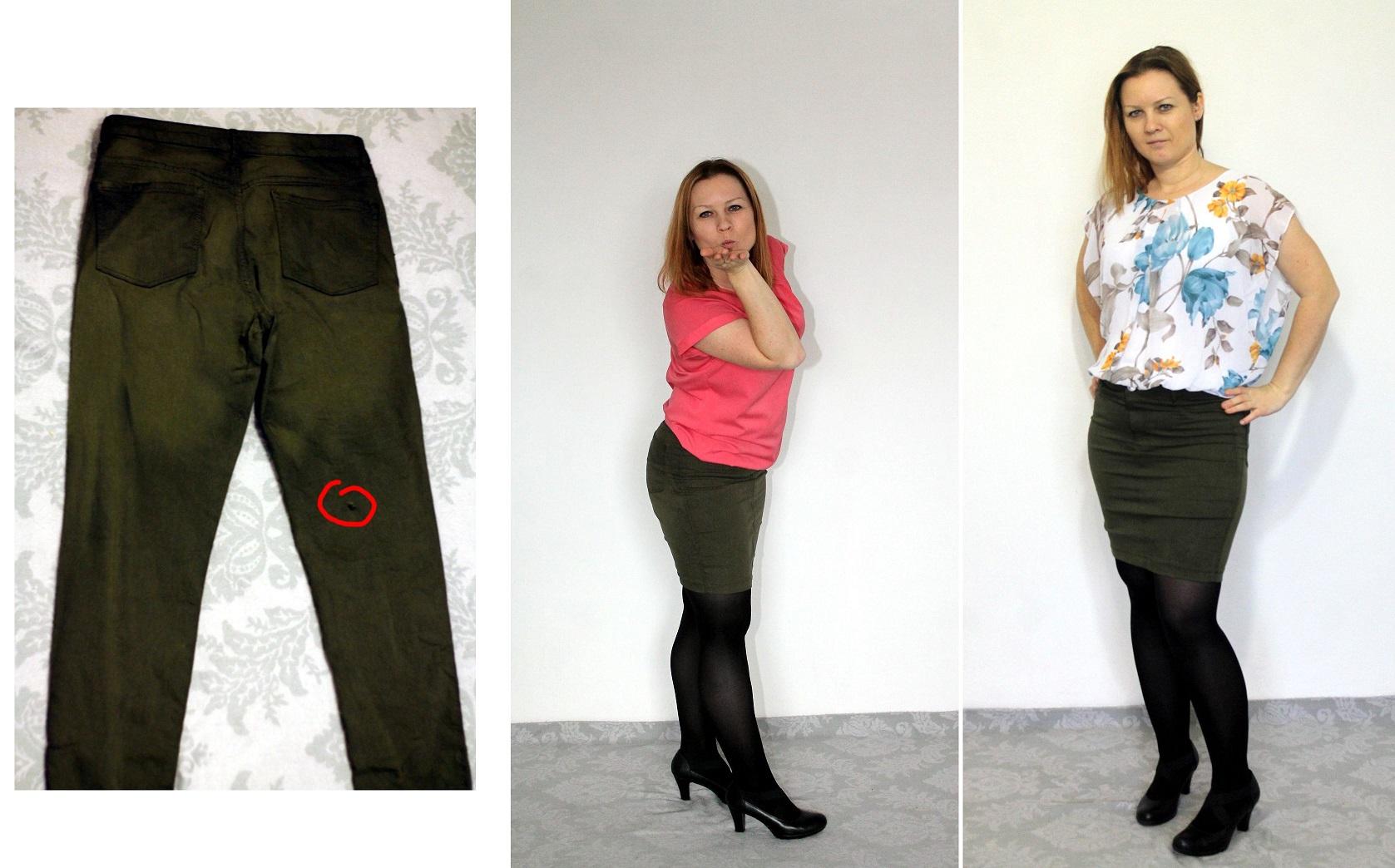 jak przerobić spodnie w spódnicę