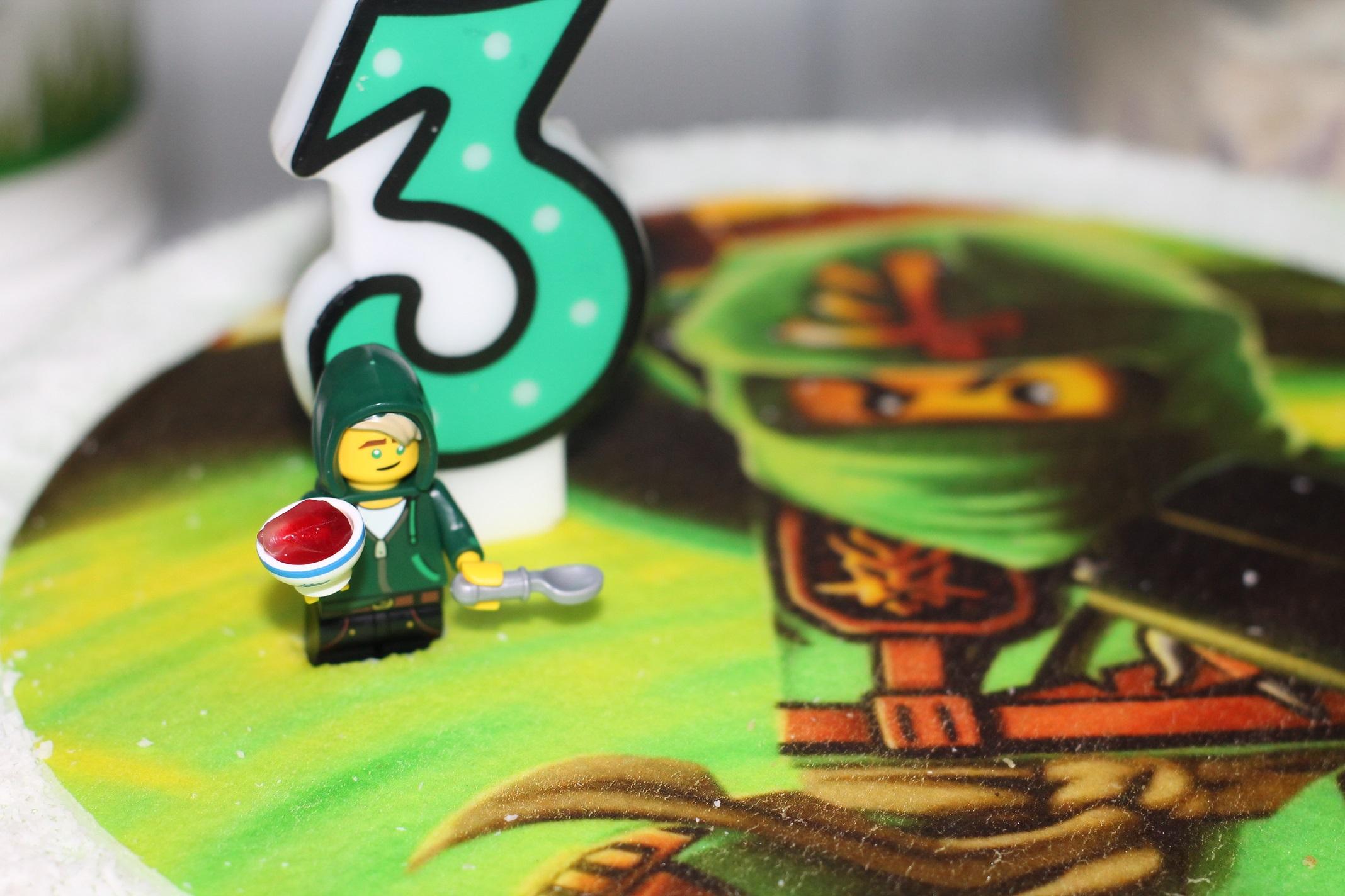 zielony tort ninjago
