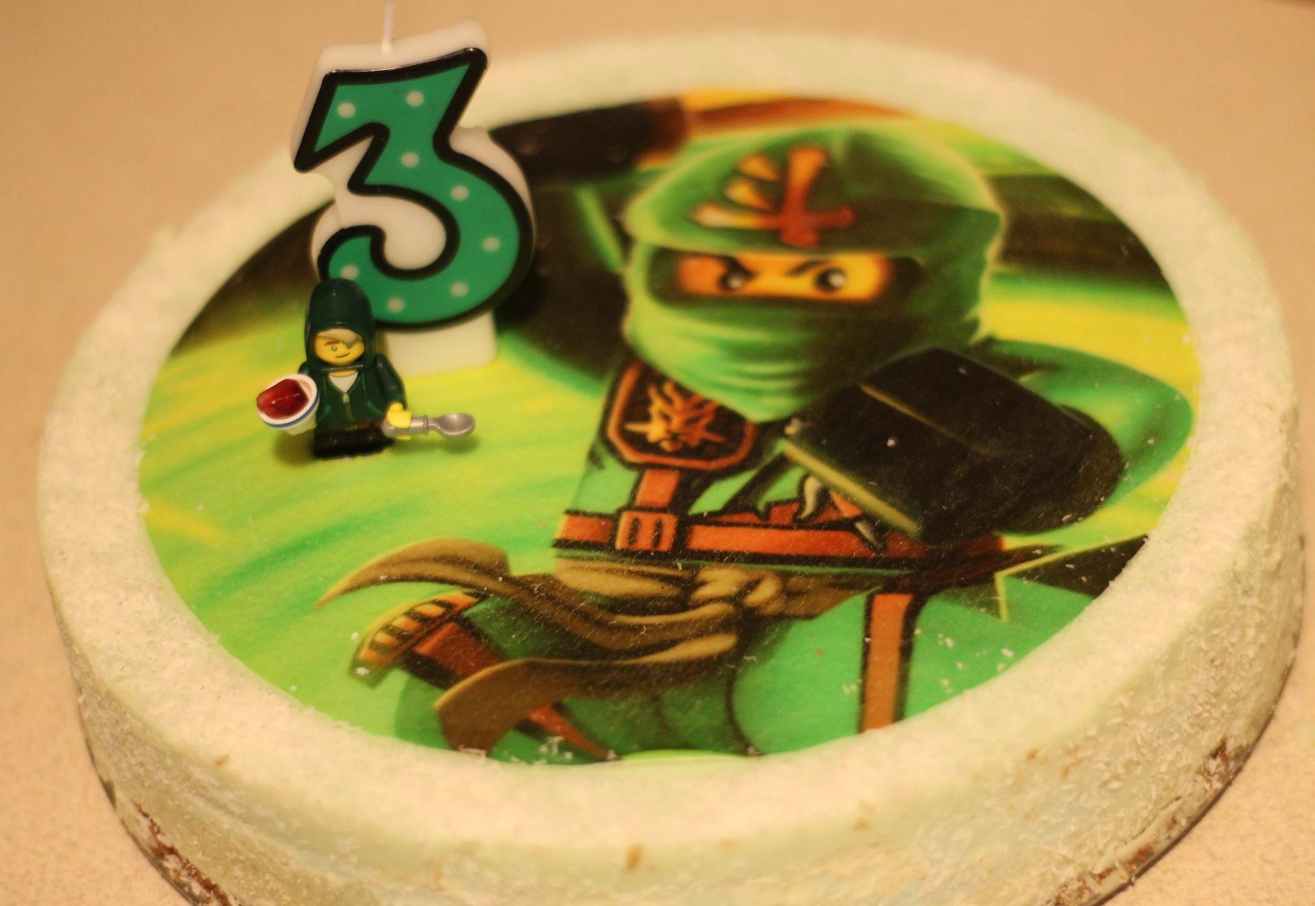 zielony tort sernik ninjago
