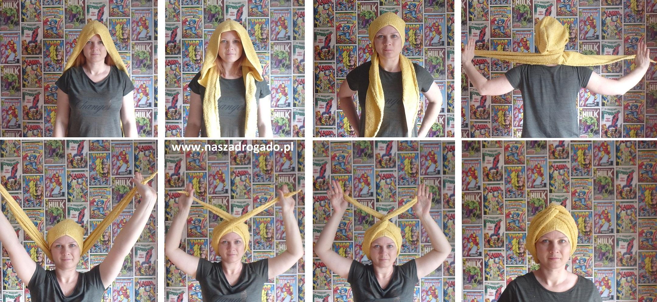 Jak uszyć turban na włosy z ręcznika