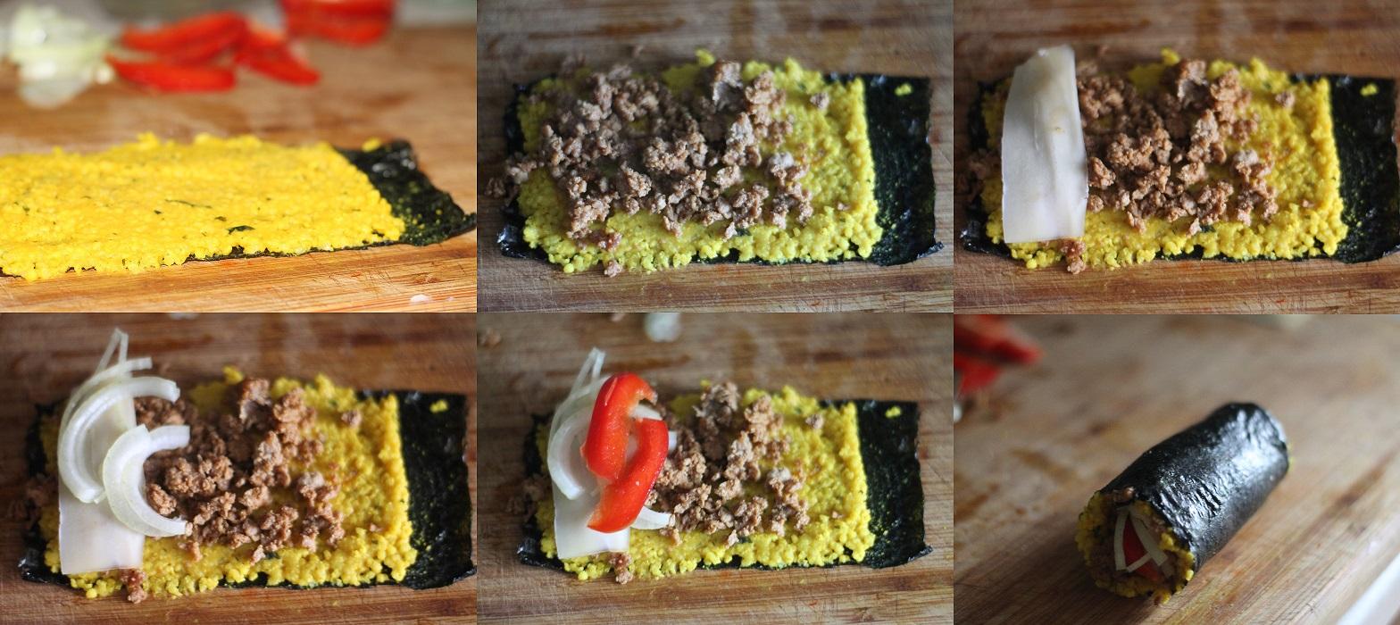 przepis na sushi z kaszą jaglaną