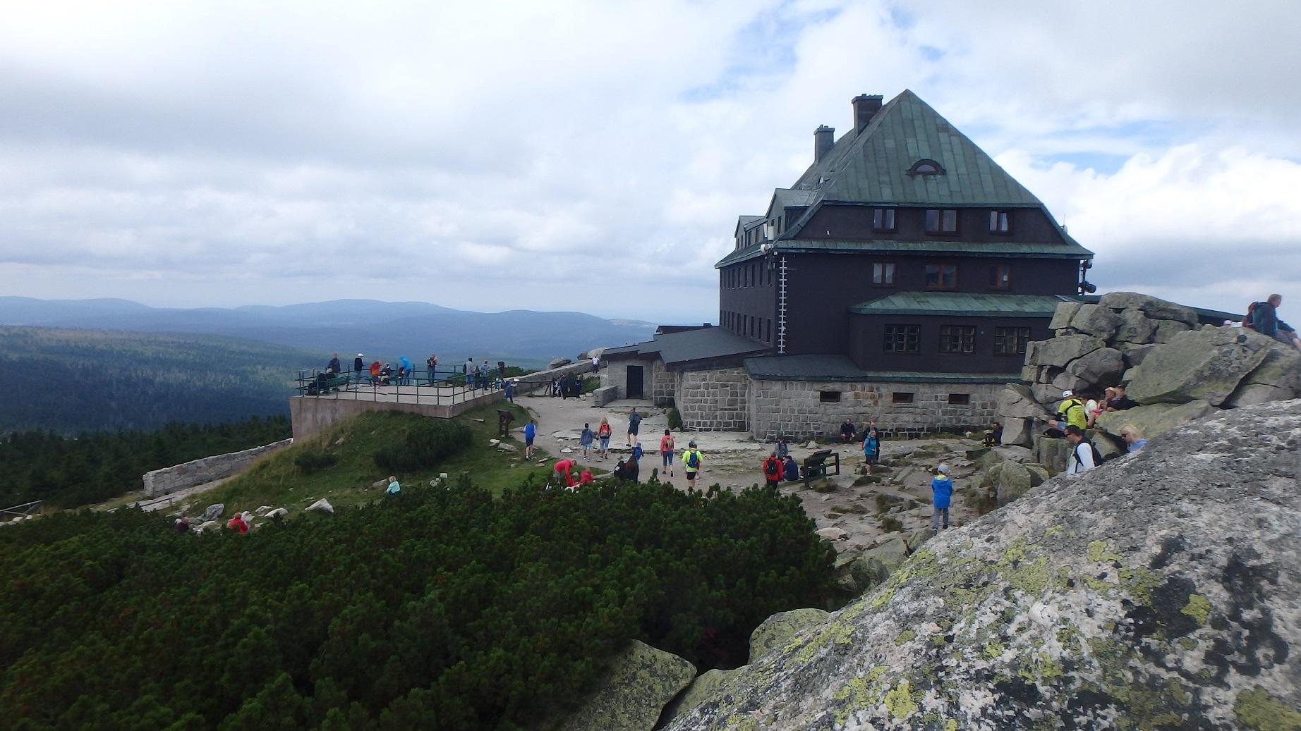 Góra Szrenica z dziećmi