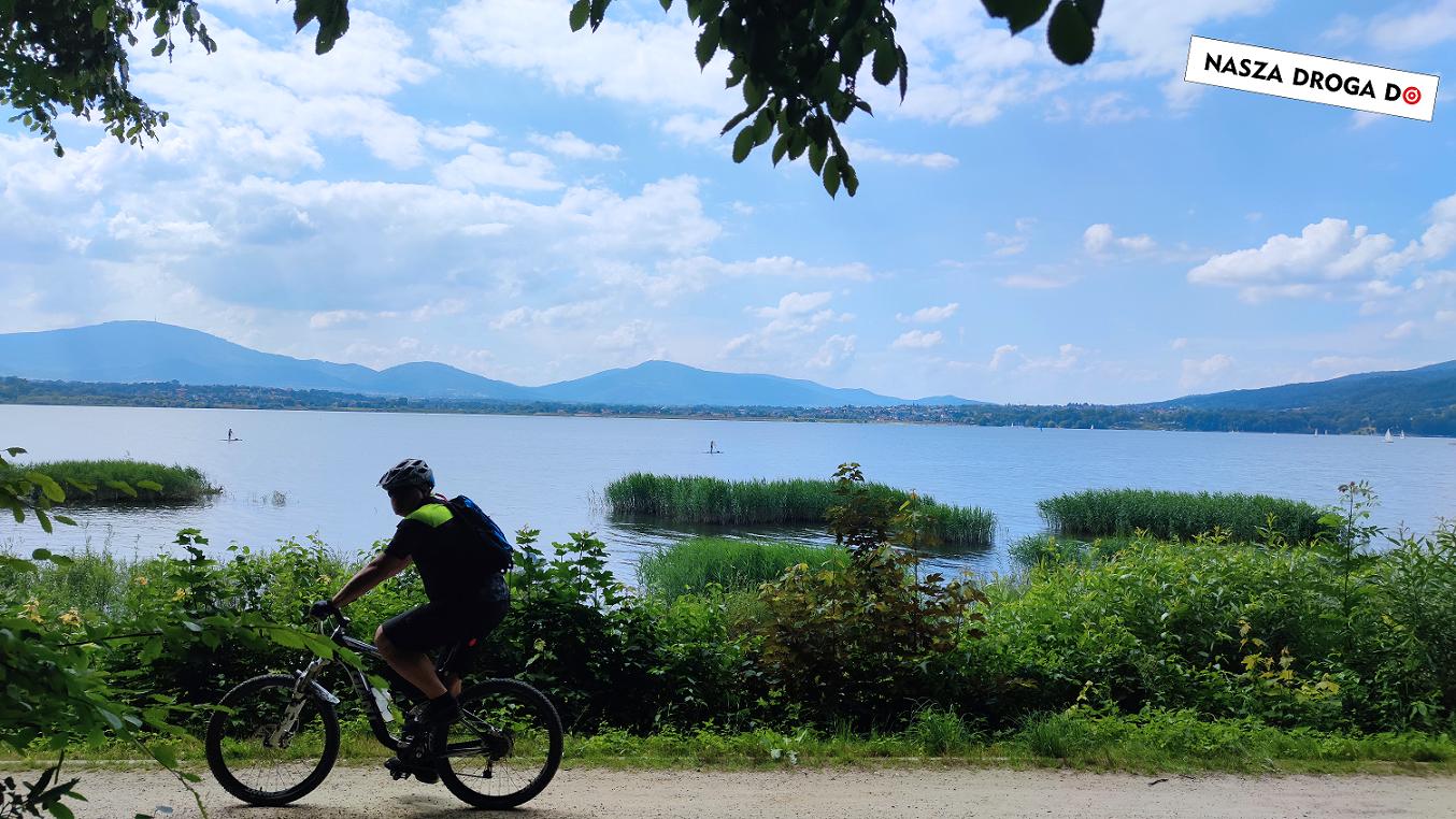 trasa rowerowa spacerowa jezioro żywieckie