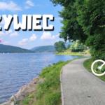Trasa rowerowa wzdłuż Koszarawy i Jeziora Żywieckiego. Plaża miejska w Żywcu. Śląskie podróże
