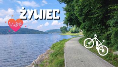 Trasa rowerowa wzdłuż Koszarawy i Jeziora Żywieckiego